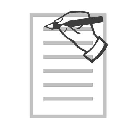 Hand schrijven illustratie Stockfoto