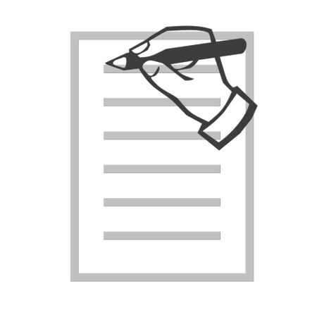 Hand writing illustration Фото со стока
