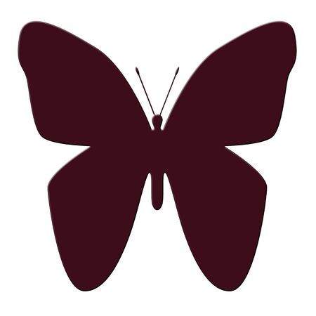 Colorful butterfly illustration Фото со стока - 71466015
