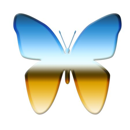 Colorful butterfly illustration on white