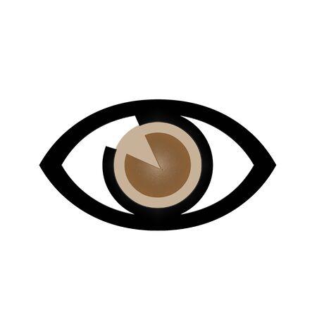 白い背景の上の目のアイコン
