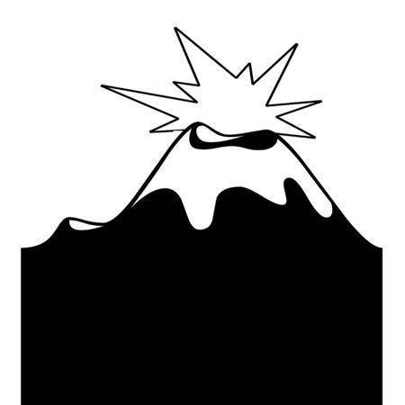 火山噴火図