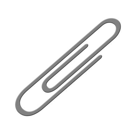 Paper clip icon Stock Photo