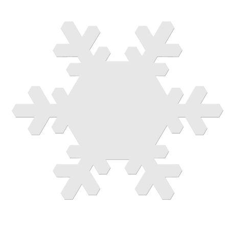 snowflake icon: Snowflake icon on white background