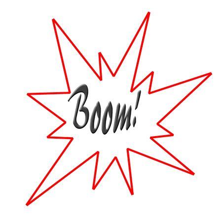 Boom illustration on white background