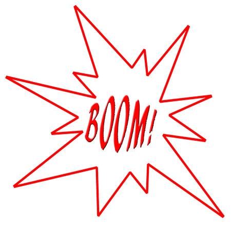Red boom illustration