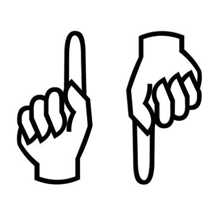 指を指す 写真素材