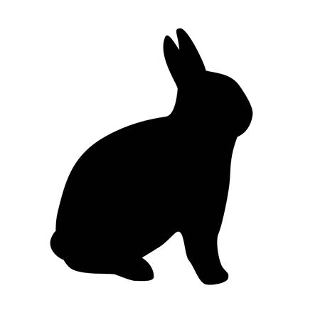 ウサギ シルエット アイコン 写真素材