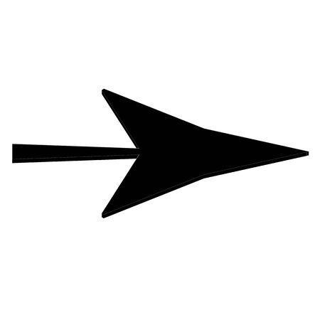 Black arrow icon Stock Photo