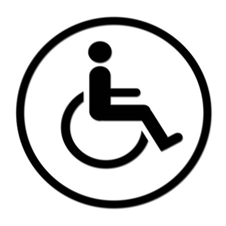 Circled handicap symbol 版權商用圖片
