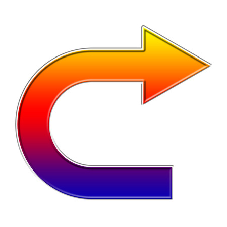 Colorful curved  arrow  illustration