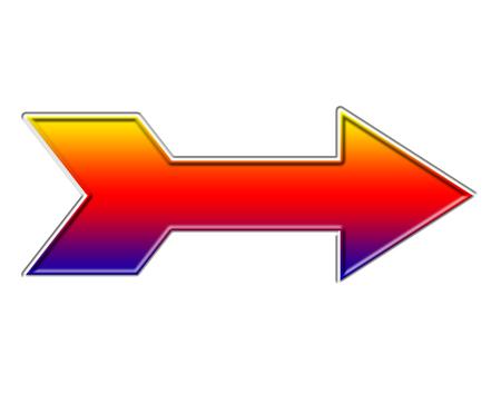 カラフルな矢印アイコン