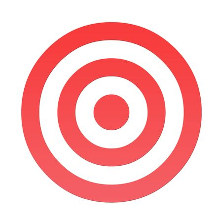 bull's eye: Red gradient overlay bulls eye target