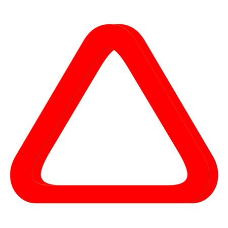 Red 3 D triangle icon