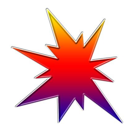 Rainbow color boom illustration 版權商用圖片