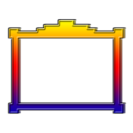 Rainbow colored 3D picture frame illustration