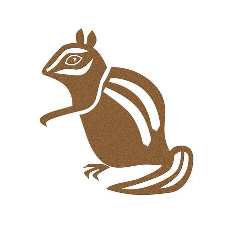 ardilla: Chipmunk icono de pie sobre patas traseras ilustración
