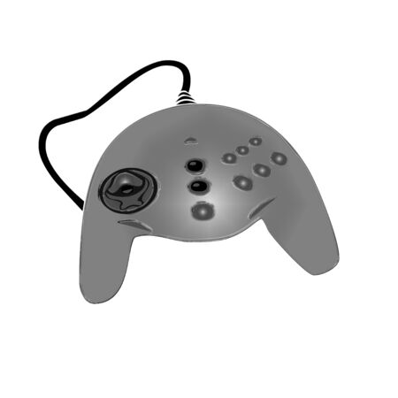 Computer game controller icon on white background.