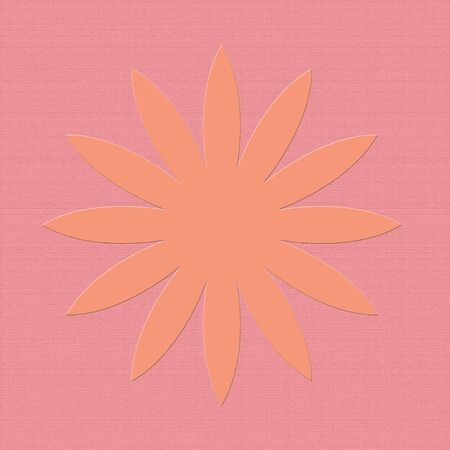 Pastel flower icon on pink Stock Photo