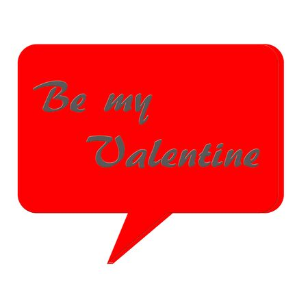 Be my Valentine text and 3D talk box