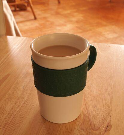 一杯のコーヒーのインテリア写真 写真素材