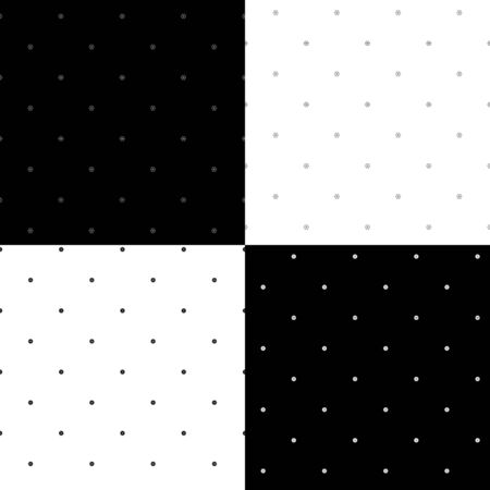 hexahedral: Set of four abstract seamless patterns. Vector illustration Illustration