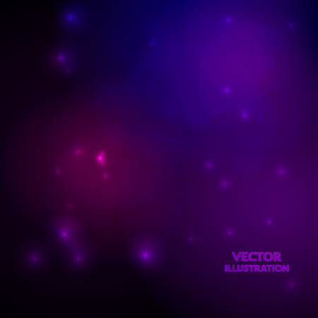 Space background with nebulas and shining stars. Vector illustration