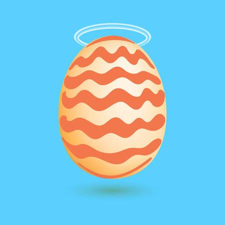 aureole: Egg with the nimbus above. Vector illustration Illustration