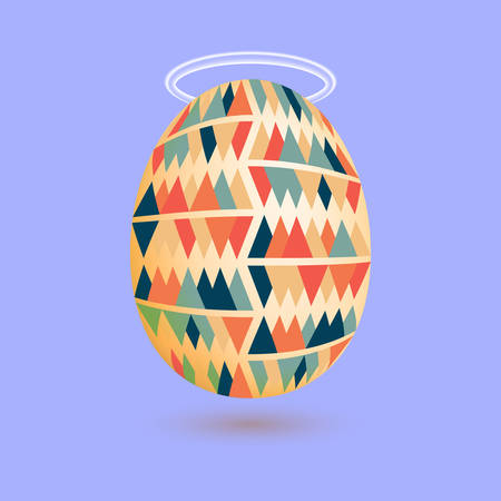 Egg with the nimbus above. Vector illustration Illustration