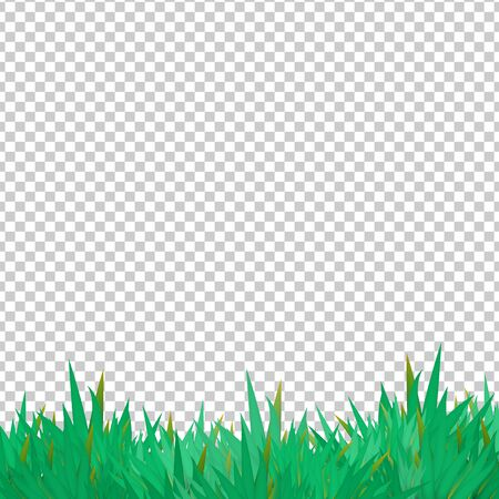 Vector grass elements on transparent groundwork. Illustration for background, foreground and other design purposes Illustration