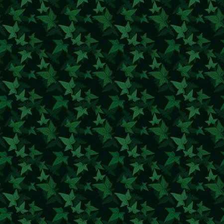 Vector seamless pattern floreale. Sfondo con elementi di edera. Struttura delle piante per il design Archivio Fotografico - 77162495