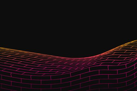 snood: Abstract vector background. Cyber grid illustration. Multicolored cell massive Illustration