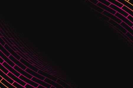 snood: Abstract vector background. Colorful folded grid illustration. Geometrical grid illustration of the dark background