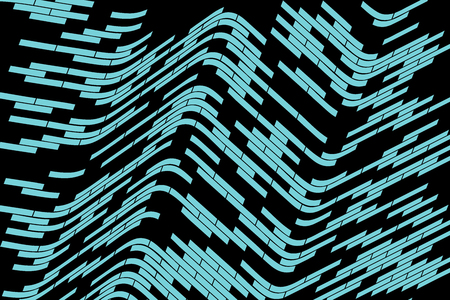 meshwork: Abstract vector background. Turquoise grid stretched over the black background. Geometrical illustratiom