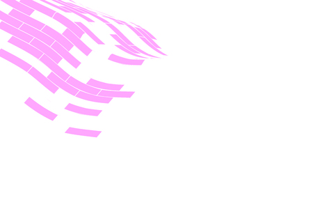 snood: Abstract vector background. Part of the pink grid fading on the white background. Geometrical Illustration