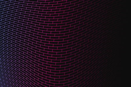 snood: Abstract vector background. Colorful geometrical grid on the dark background.