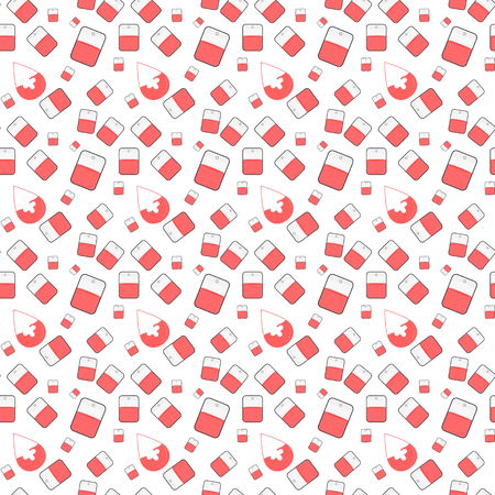 rehearse: Seamless hospital pattern with medicine elements. Illustration
