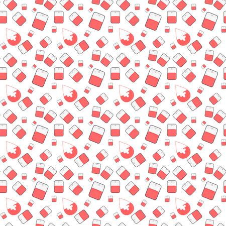 Seamless hospital pattern with medicine elements. Illustration