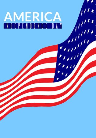 flag: America independence day vector illustration. Sable for posters, greeting cards, flyers, banners