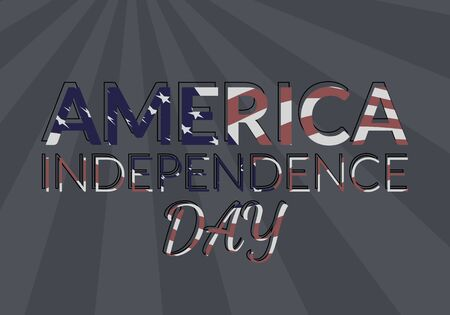 old glory: USA independence day vector illustration. 4th of luly greeting card