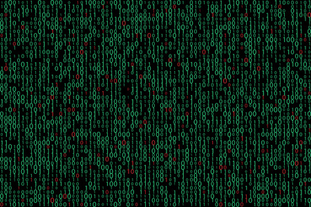 decode: Binary virus infection spreading abstract technology background