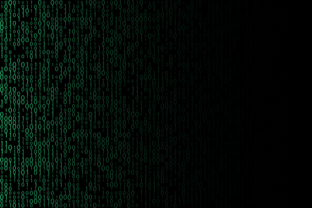 Binary computer code technology vector illustration with place for a text