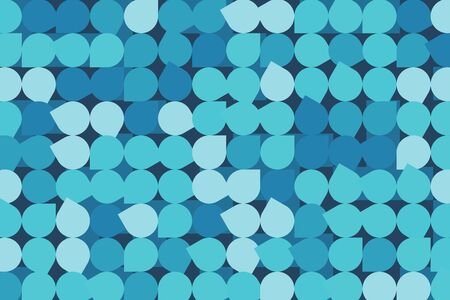 Abstract blue mosaic background. Creative desgn in calm tones Illustration