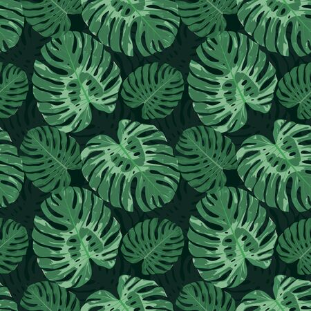 Seamless floral pattern. Vector illustration of exotic plants