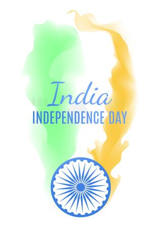 India independence day greeting card with national color gamma Illustration