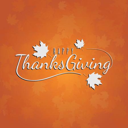 Ilustración de tipografía de día de acción de gracias para tarjeta, banner, cartel o fondo. Fondo de colores otoñales