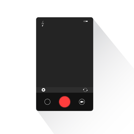 smartphone icon: Modern phone camera interface illustration for design