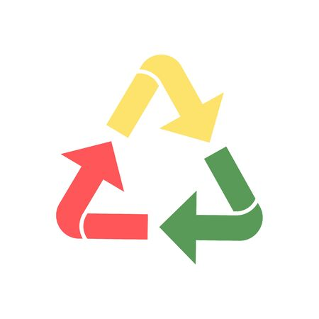 Colorized recycle icon. Reuse isolated symbol illustration.