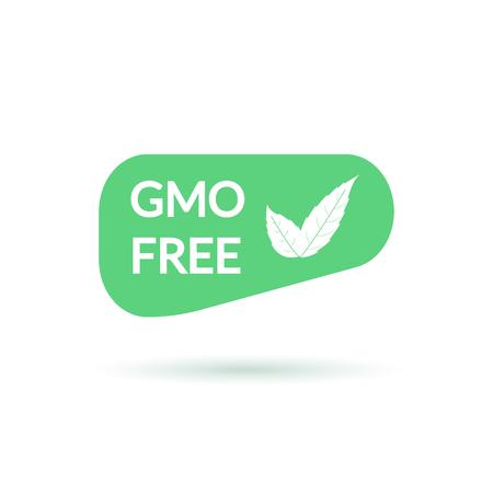 GMO free green sign illustration. Natural origin sign