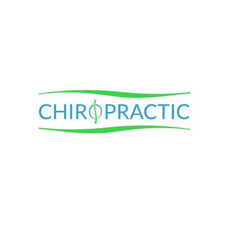 Alternative chiropractic medicine icon illustration isolated on background.